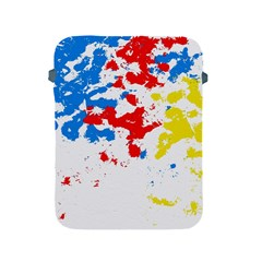 Paint Splatter Digitally Created Blue Red And Yellow Splattering Of Paint On A White Background Apple iPad 2/3/4 Protective Soft Cases