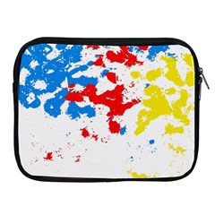 Paint Splatter Digitally Created Blue Red And Yellow Splattering Of Paint On A White Background Apple Ipad 2/3/4 Zipper Cases