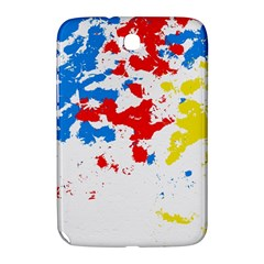 Paint Splatter Digitally Created Blue Red And Yellow Splattering Of Paint On A White Background Samsung Galaxy Note 8 0 N5100 Hardshell Case