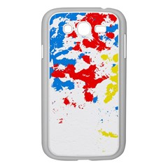 Paint Splatter Digitally Created Blue Red And Yellow Splattering Of Paint On A White Background Samsung Galaxy Grand DUOS I9082 Case (White)