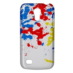 Paint Splatter Digitally Created Blue Red And Yellow Splattering Of Paint On A White Background Galaxy S4 Mini