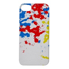 Paint Splatter Digitally Created Blue Red And Yellow Splattering Of Paint On A White Background Apple iPhone 5S/ SE Hardshell Case