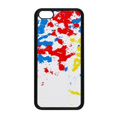 Paint Splatter Digitally Created Blue Red And Yellow Splattering Of Paint On A White Background Apple iPhone 5C Seamless Case (Black)