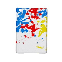 Paint Splatter Digitally Created Blue Red And Yellow Splattering Of Paint On A White Background Ipad Mini 2 Hardshell Cases
