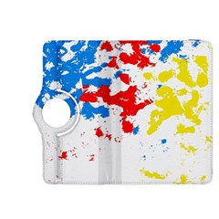Paint Splatter Digitally Created Blue Red And Yellow Splattering Of Paint On A White Background Kindle Fire HDX 8.9  Flip 360 Case