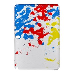 Paint Splatter Digitally Created Blue Red And Yellow Splattering Of Paint On A White Background Samsung Galaxy Tab Pro 10 1 Hardshell Case