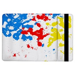Paint Splatter Digitally Created Blue Red And Yellow Splattering Of Paint On A White Background Ipad Air Flip