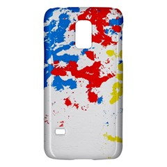 Paint Splatter Digitally Created Blue Red And Yellow Splattering Of Paint On A White Background Galaxy S5 Mini