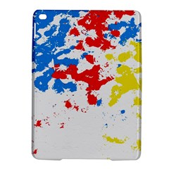 Paint Splatter Digitally Created Blue Red And Yellow Splattering Of Paint On A White Background iPad Air 2 Hardshell Cases
