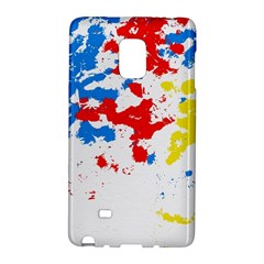 Paint Splatter Digitally Created Blue Red And Yellow Splattering Of Paint On A White Background Galaxy Note Edge