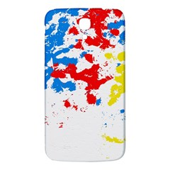 Paint Splatter Digitally Created Blue Red And Yellow Splattering Of Paint On A White Background Samsung Galaxy Mega I9200 Hardshell Back Case