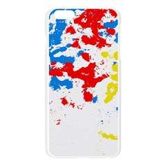 Paint Splatter Digitally Created Blue Red And Yellow Splattering Of Paint On A White Background Apple Seamless iPhone 6 Plus/6S Plus Case (Transparent)