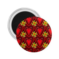 Digitally Created Seamless Love Heart Pattern 2.25  Magnets