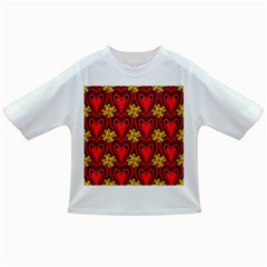 Digitally Created Seamless Love Heart Pattern Infant/toddler T Shirts