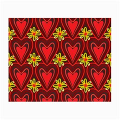 Digitally Created Seamless Love Heart Pattern Small Glasses Cloth (2-Side)