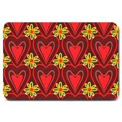 Digitally Created Seamless Love Heart Pattern Large Doormat