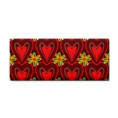 Digitally Created Seamless Love Heart Pattern Cosmetic Storage Cases