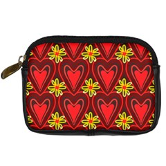 Digitally Created Seamless Love Heart Pattern Digital Camera Cases