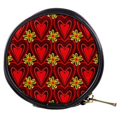 Digitally Created Seamless Love Heart Pattern Mini Makeup Bags