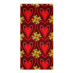 Digitally Created Seamless Love Heart Pattern Shower Curtain 36  x 72  (Stall)
