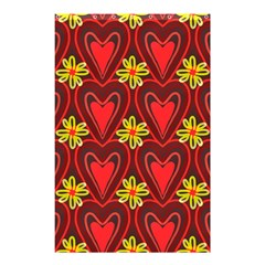 Digitally Created Seamless Love Heart Pattern Shower Curtain 48  x 72  (Small)