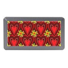 Digitally Created Seamless Love Heart Pattern Memory Card Reader (Mini)