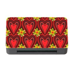 Digitally Created Seamless Love Heart Pattern Memory Card Reader with CF