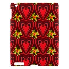 Digitally Created Seamless Love Heart Pattern Apple iPad 3/4 Hardshell Case