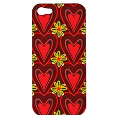 Digitally Created Seamless Love Heart Pattern Apple iPhone 5 Hardshell Case