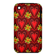 Digitally Created Seamless Love Heart Pattern iPhone 3S/3GS