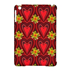 Digitally Created Seamless Love Heart Pattern Apple iPad Mini Hardshell Case (Compatible with Smart Cover)
