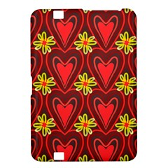 Digitally Created Seamless Love Heart Pattern Kindle Fire Hd 8 9