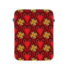 Digitally Created Seamless Love Heart Pattern Apple Ipad 2/3/4 Protective Soft Cases