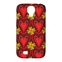 Digitally Created Seamless Love Heart Pattern Samsung Galaxy S4 Classic Hardshell Case (PC+Silicone)
