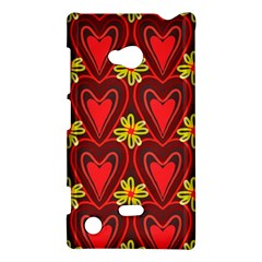 Digitally Created Seamless Love Heart Pattern Nokia Lumia 720