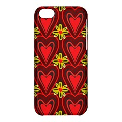 Digitally Created Seamless Love Heart Pattern Apple iPhone 5C Hardshell Case