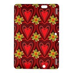 Digitally Created Seamless Love Heart Pattern Kindle Fire HDX 8.9  Hardshell Case