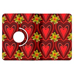 Digitally Created Seamless Love Heart Pattern Kindle Fire HDX Flip 360 Case