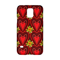 Digitally Created Seamless Love Heart Pattern Samsung Galaxy S5 Hardshell Case