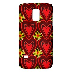 Digitally Created Seamless Love Heart Pattern Galaxy S5 Mini