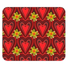 Digitally Created Seamless Love Heart Pattern Double Sided Flano Blanket (Small)