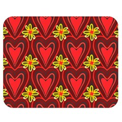 Digitally Created Seamless Love Heart Pattern Double Sided Flano Blanket (Medium)