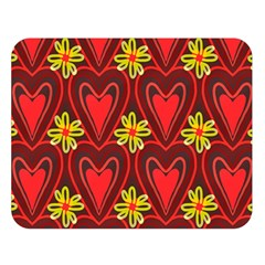 Digitally Created Seamless Love Heart Pattern Double Sided Flano Blanket (large)