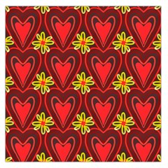Digitally Created Seamless Love Heart Pattern Large Satin Scarf (Square)
