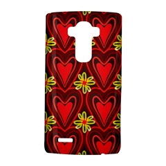 Digitally Created Seamless Love Heart Pattern LG G4 Hardshell Case