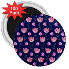 Watercolour Flower Pattern 3  Magnets (100 pack)