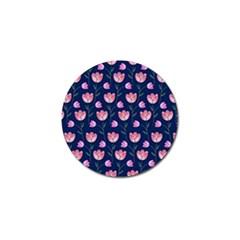 Watercolour Flower Pattern Golf Ball Marker