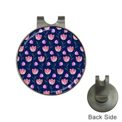 Watercolour Flower Pattern Hat Clips With Golf Markers