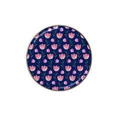 Watercolour Flower Pattern Hat Clip Ball Marker (4 Pack)
