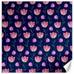 Watercolour Flower Pattern Canvas 12  x 12